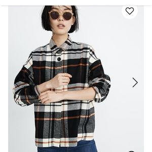 Madewell Flannel Bromley Shirt small
